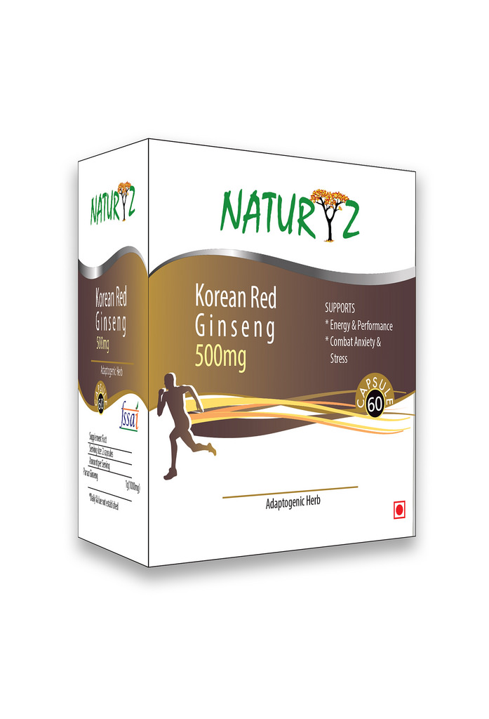 Naturyz Korean Red Ginseng 500 mg - 60 Capsules  available at Nykaa for Rs.749