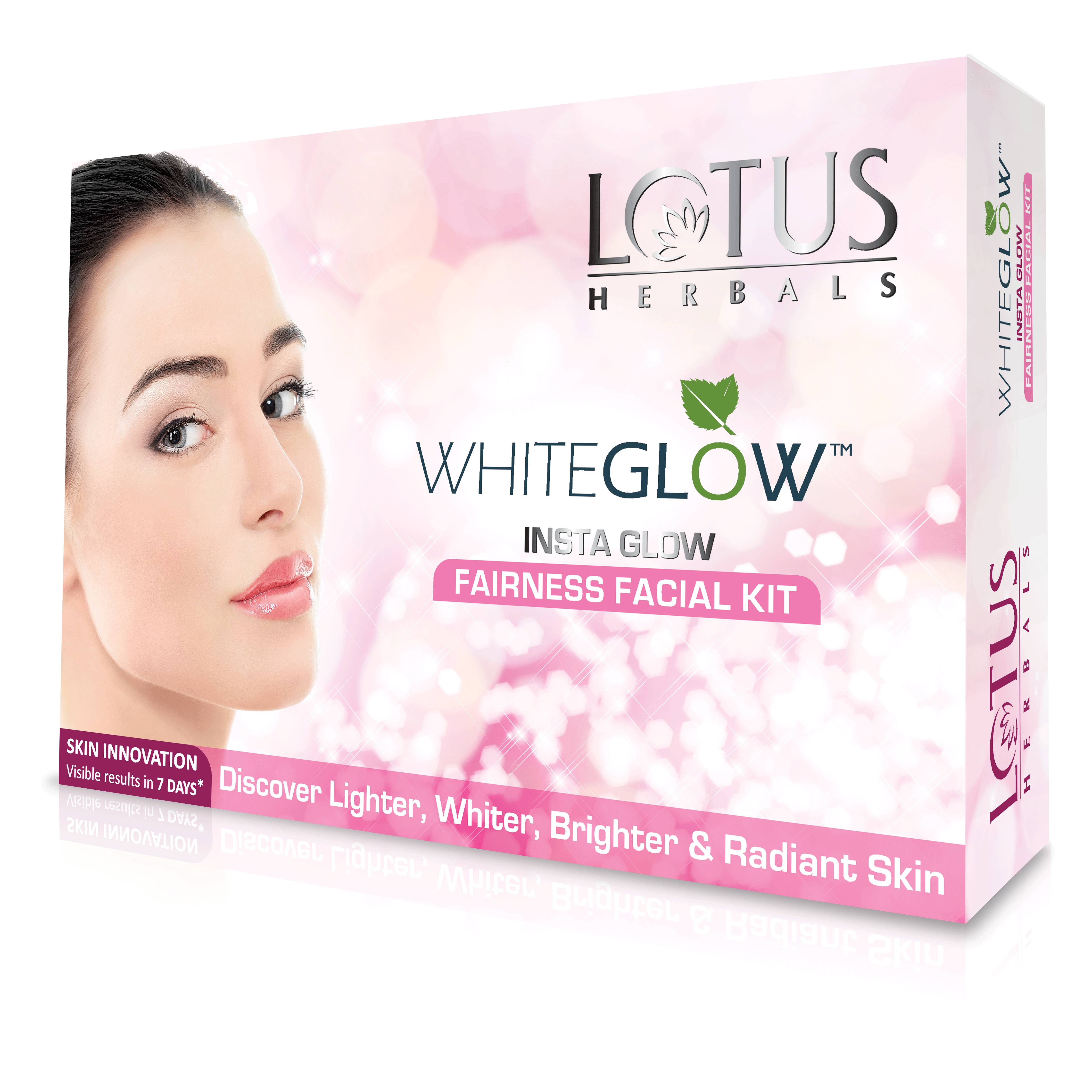 Lotus Herbals Whiteglow Insta Glow Fairness Single Facial Kit (RS. 50 off)  available at Nykaa for Rs.195