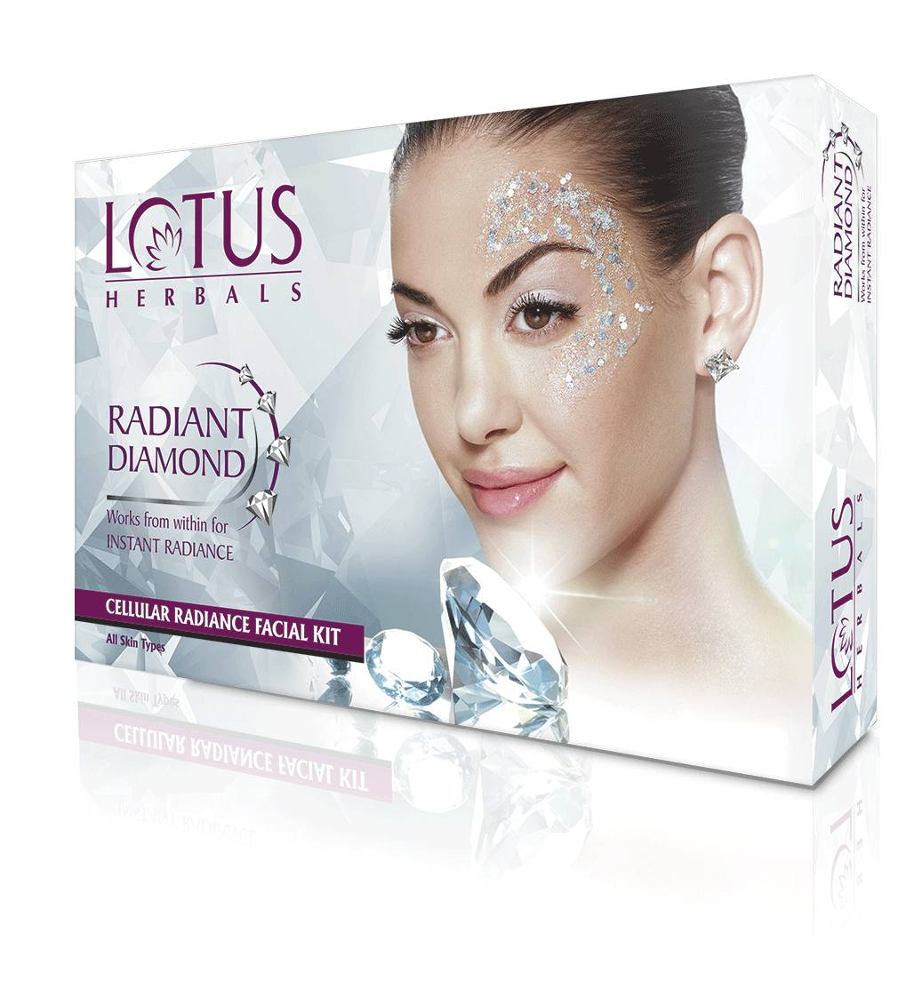 Lotus Herbals Radiant Diamond Cellular Radiance 1 Facial Kit (Rs.50 Off)  available at Nykaa for Rs.250