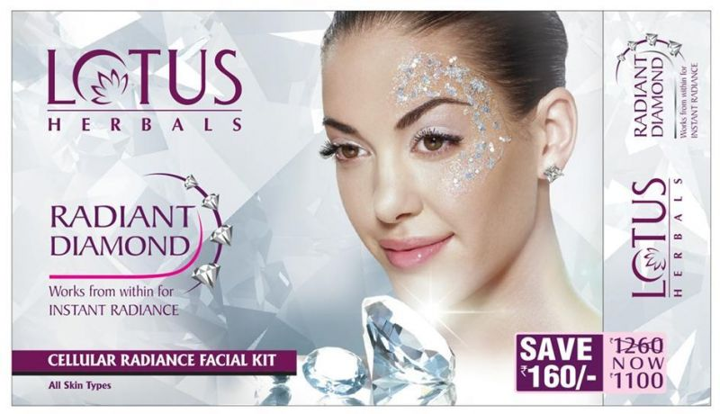 Lotus Herbals Radiant Diamond Cellular Radiance Facial Kit (Save Rs.160)  available at Nykaa for Rs.990