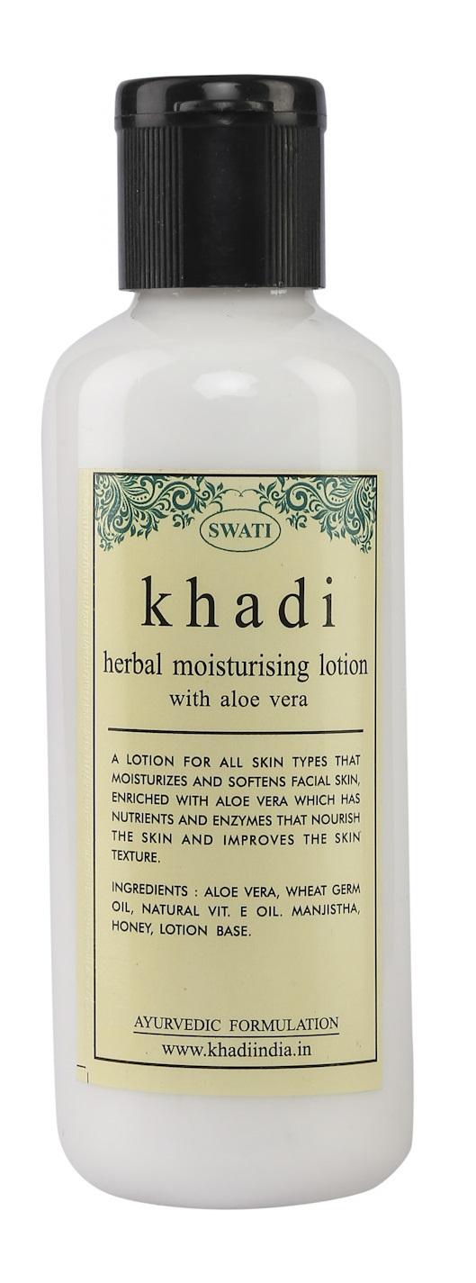 Swati Khadi Herbal With Aloe Vera Moisturising Lotion  available at Nykaa for Rs.144