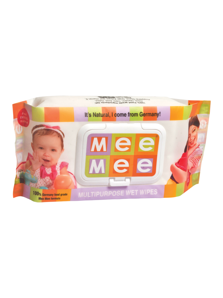 Mee Mee Baby Mutlipurpose Baby Wet Wipes (80pcs)  available at Nykaa for Rs.199