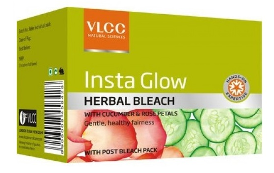 VLCC Insta Glow Herbal Bleach  available at Nykaa for Rs.55