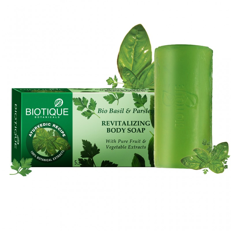 Biotique Basil And Parsley Revitalizing Body Soap