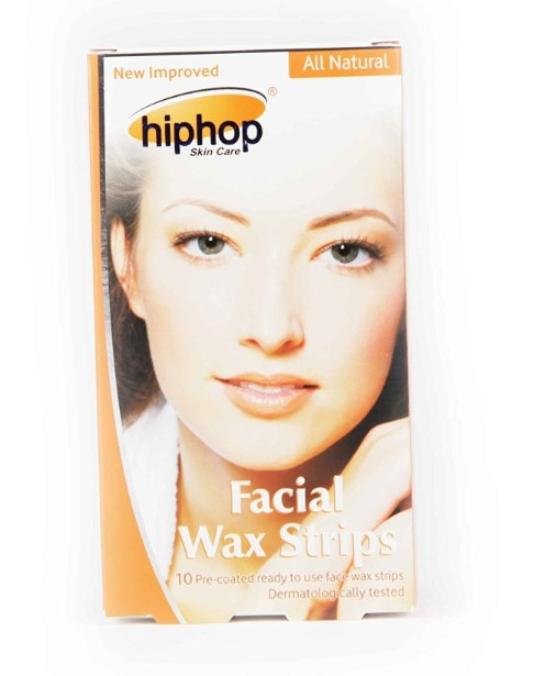 HipHop Orange Facial Wax Strips  available at Nykaa for Rs.80