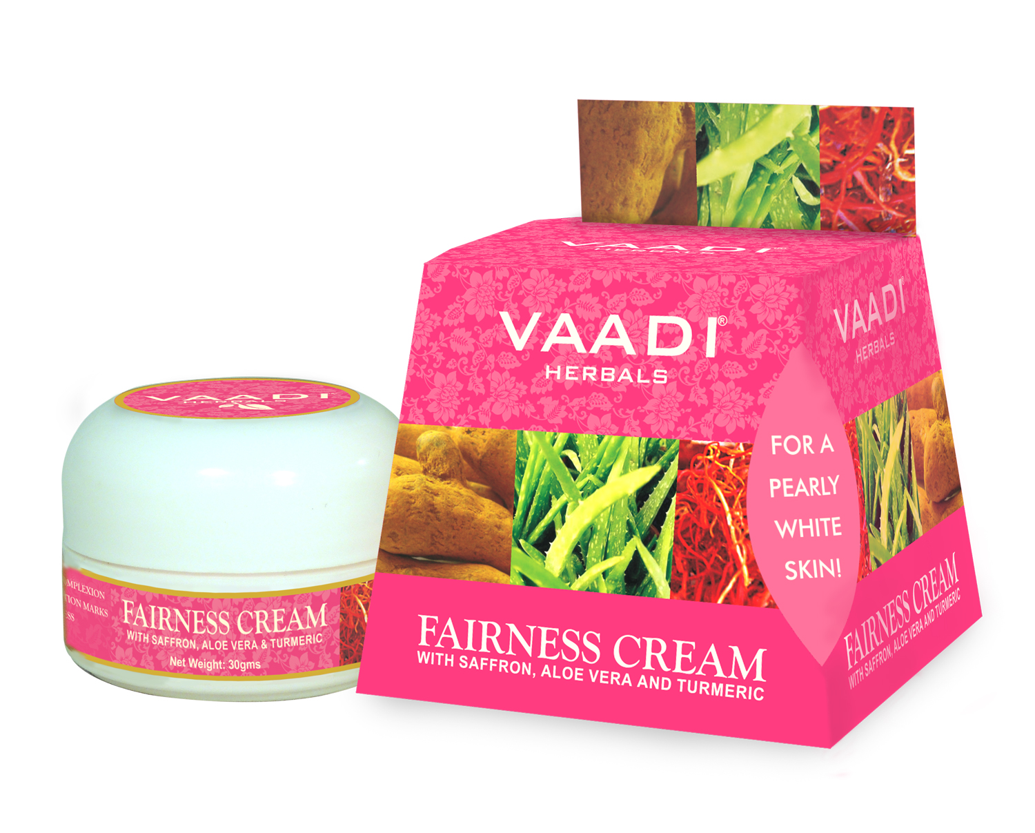 Vaadi Herbals Fairness Cream - Saffron, Aloe Vera & Turmeric Extracts  available at Nykaa for Rs.36