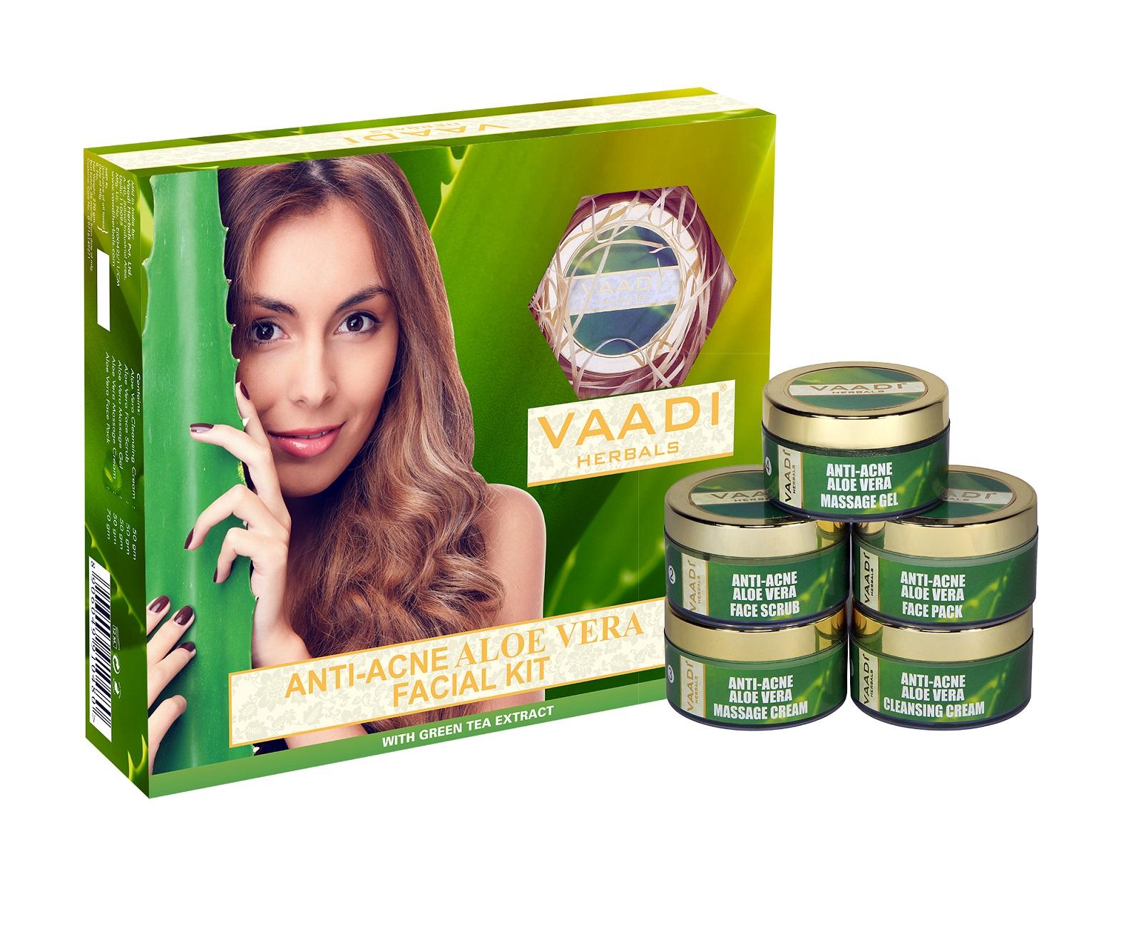 Vaadi Herbals Aloe Vera Facial Kit  available at Nykaa for Rs.860