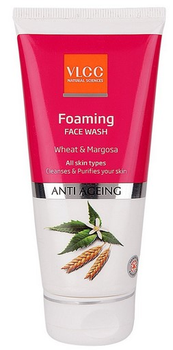 VLCC Anti Ageing Foaming Wheat and Margosa Face Wash  available at Nykaa for Rs.109