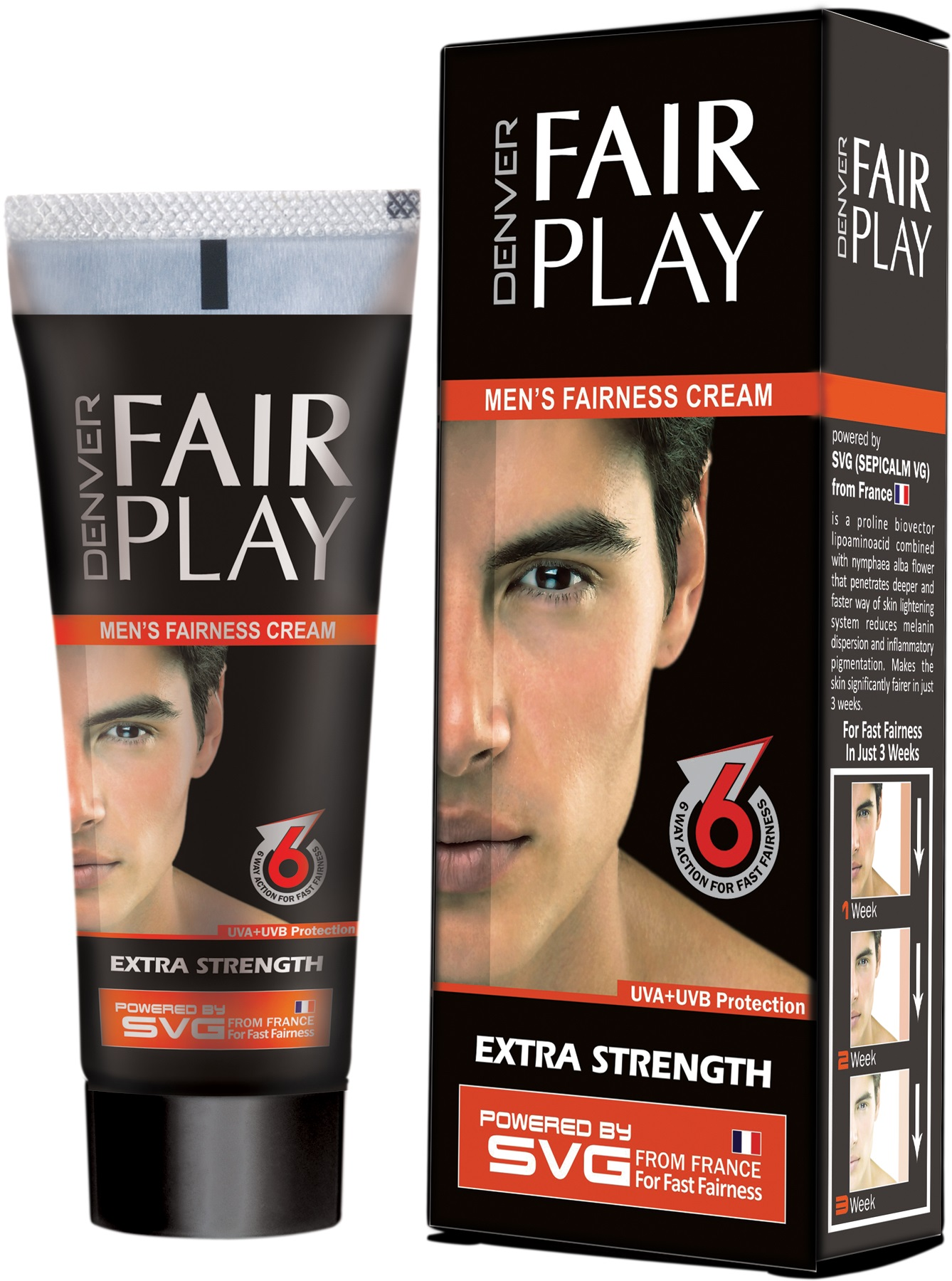 Denver Fair Play Men's Fairness Cream  available at Nykaa for Rs.30
