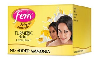Fem Turmeric Herbal Fairness Bleach Cream  available at Nykaa for Rs.48