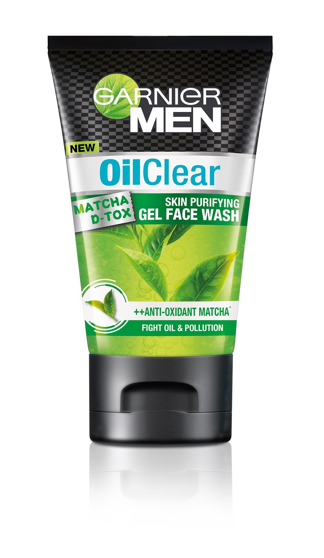 Garnier Men Oil Clear Matcha D-Tox Gel Face Wash  available at Nykaa for Rs.95