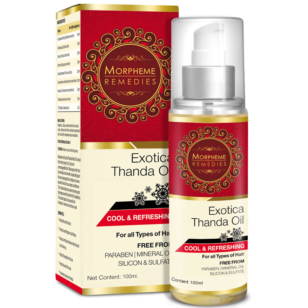 Morpheme Exotica Thanda Hair Oil  available at Nykaa for Rs.299