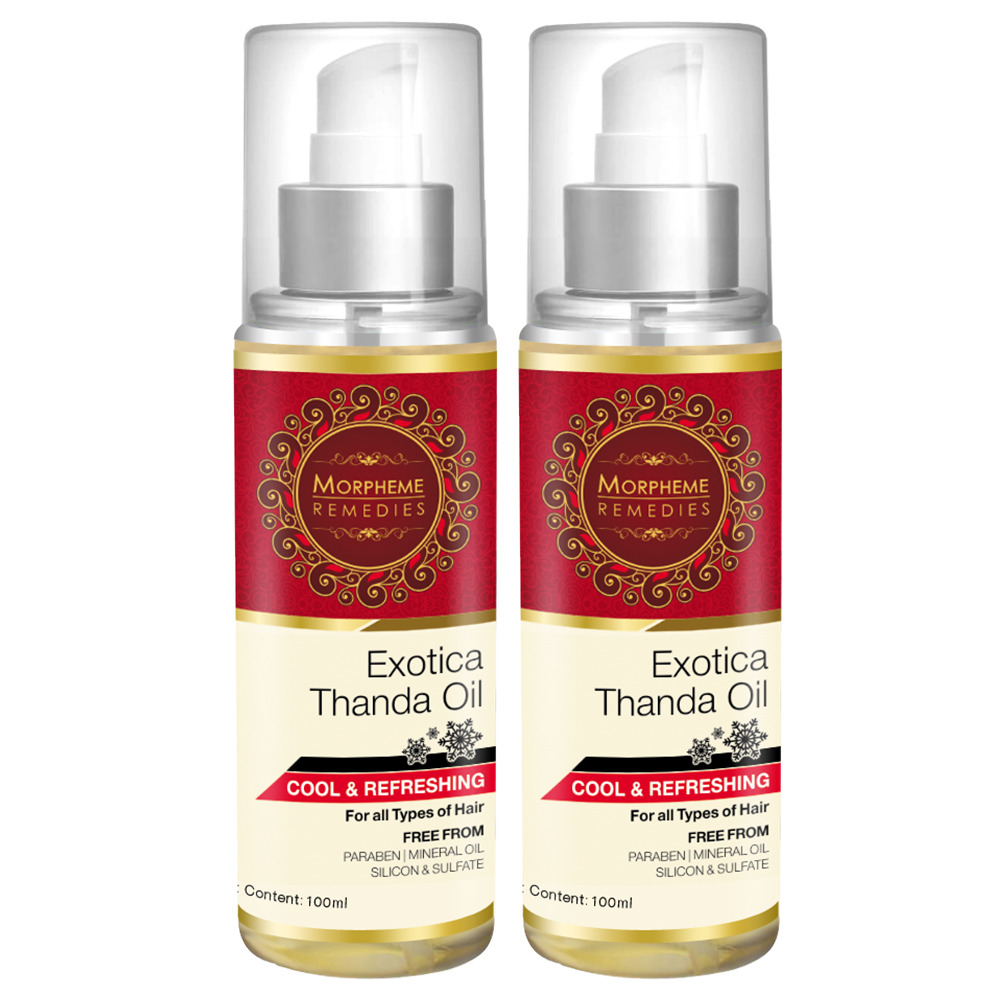 Morpheme Exotica Thanda Hair Oil - 2 Bottles  available at Nykaa for Rs.998