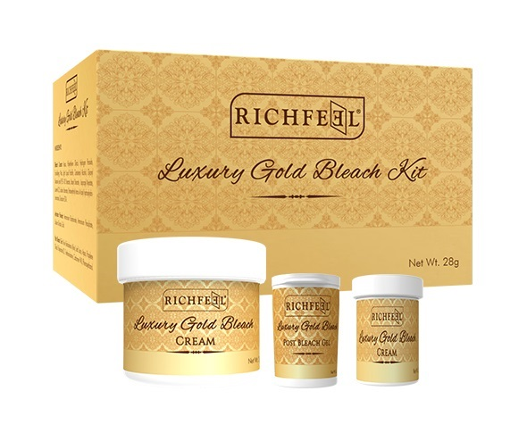 Richfeel Luxury Gold Bleach Kit  available at Nykaa for Rs.80