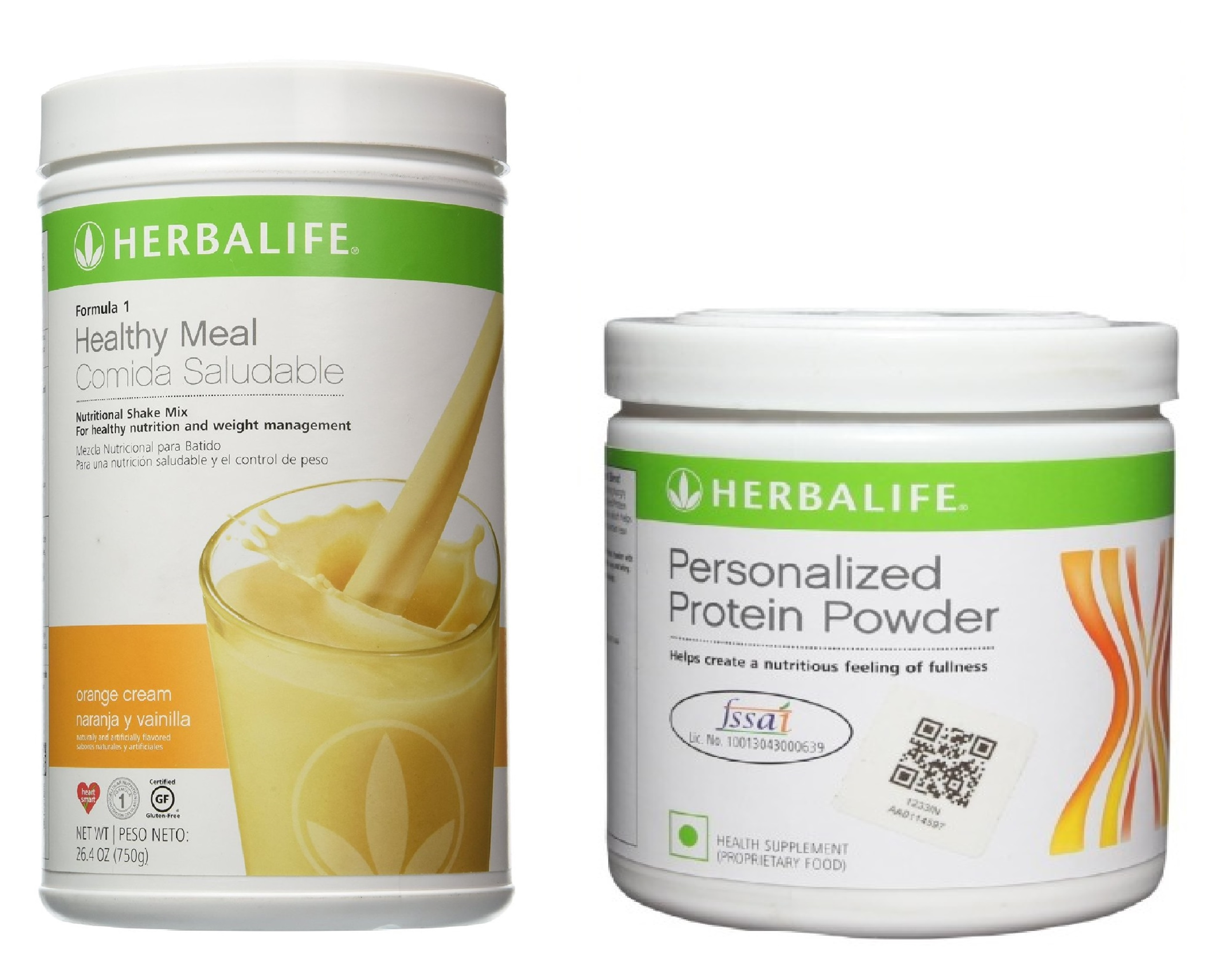 Herbalife Weight Loss Combo - Orange Cream & Protein Powder  available at Nykaa for Rs.1709
