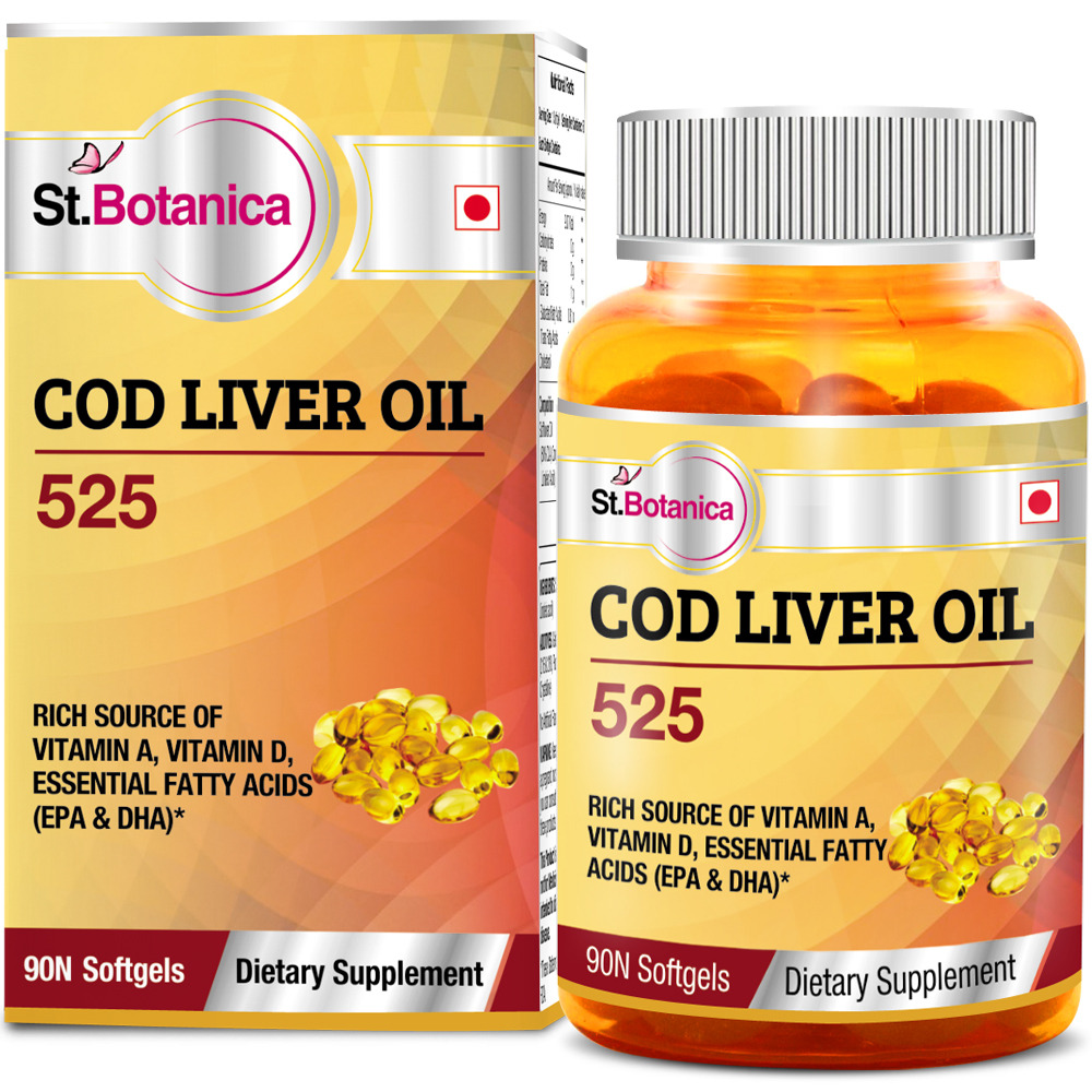 St.Botanica Cod Liver Oil 525  available at Nykaa for Rs.649