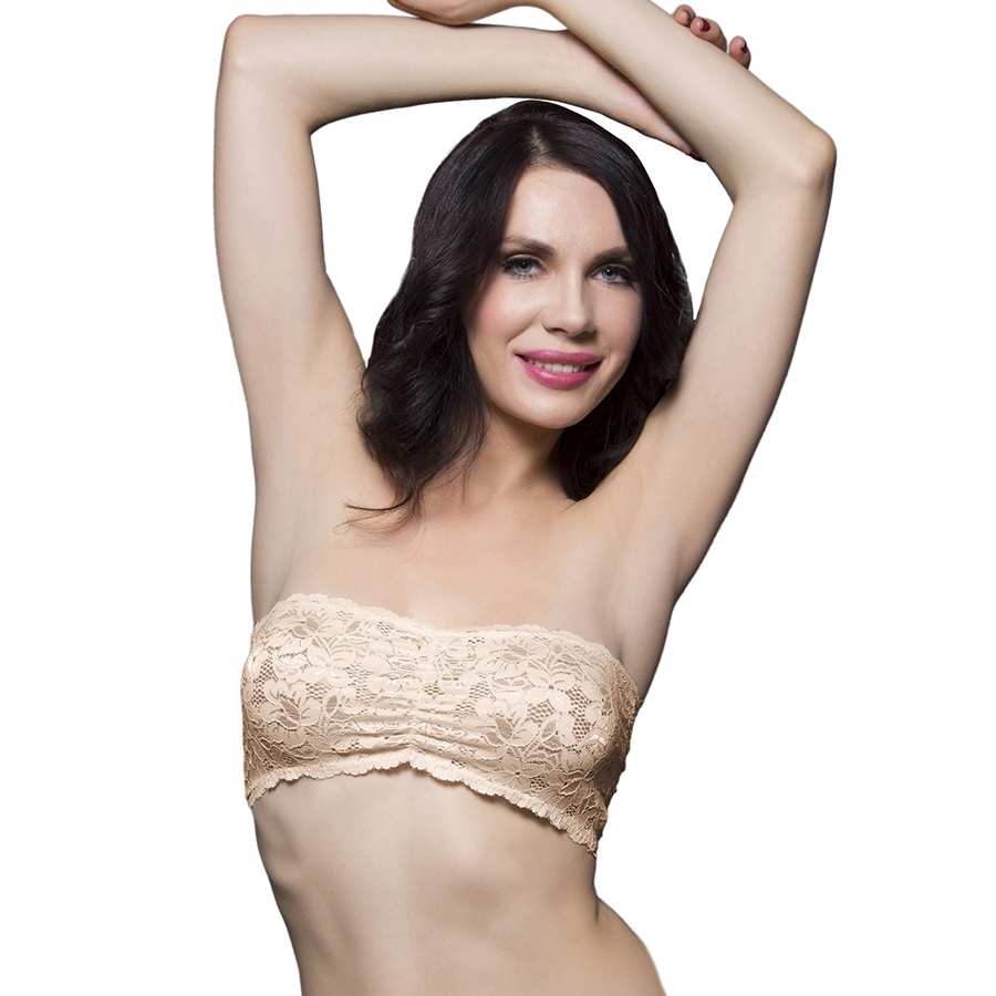 Clovia Lacy Tube Bra In Nude - Beige  available at Nykaa for Rs.250