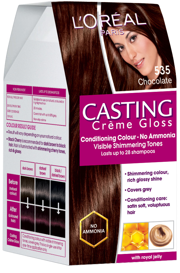 L'Oreal Paris Casting Creme Gloss Hair Color - 535 Chocolate  available at Nykaa for Rs.480
