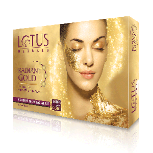 Buy Lotus Herbals Radiant Gold Cellular Glow 1 Facial Kit - Nykaa