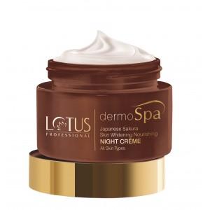 Buy Lotus Professional dermoSpa Japanese Sakura Skin Whitening & Nourishing Night Creme  - Nykaa