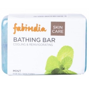 Buy Fabindia Bathing Bar Cooling & Reinvigorating Mint Skin Care - Nykaa
