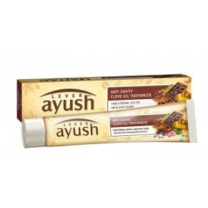Buy Lever Ayush Anti Cavity Clove Oil Toothpaste - Nykaa