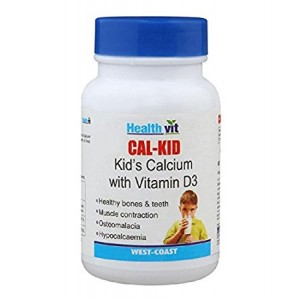 Buy HealthVit Cal-Kid Calcium With Vitamin D3 (60 Tablets) - Nykaa