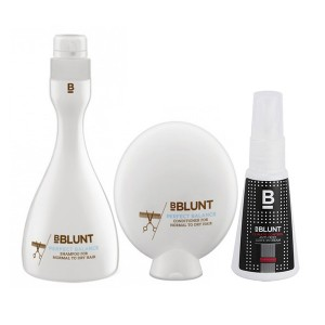 Buy BBLUNT Perfect Balance Shampoo + Conditioner + Mini Climate Control, Anti-Frizz Leave In Cream - Nykaa