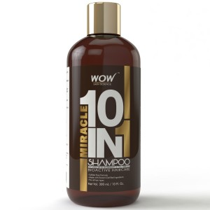 Buy WOW Organics Miracle 10 in 1 Shampoo(300ml) Paraben Sulphate Free - Nykaa