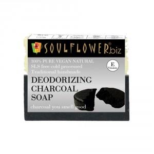 Buy Soulflower Deodorizing Charcoal Soap - Nykaa