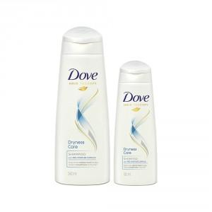 Buy Buy Dove Dryness Care Shampoo 340 ml & Get 80 ml Shampoo Free - Nykaa
