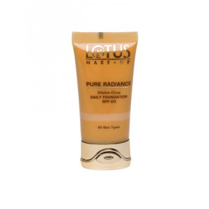 Buy Lotus Herbals Pure Radiance Matte-Glow Daily Foundation SPF-20 - Nykaa