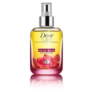 Buy Dove Elixir Hair Fall Rescue Hair Oil - Rose & Almond Oil - Nykaa