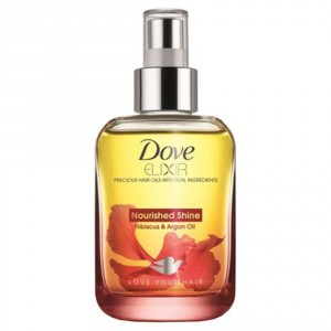 Buy Dove Elixir Nourished Shine Hair Oil - Hibiscus & Argan Oil - Nykaa