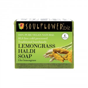 Buy Soulflower Lemongrass Haldi Soap - Nykaa