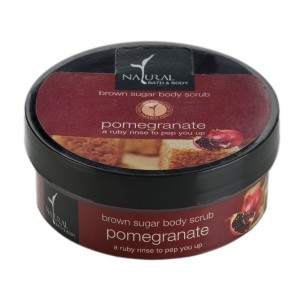 Buy Natural Bath & Body Brown Sugar Body Scrub - Pomegranate - Nykaa