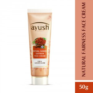 Buy Lever Ayush Natural Fairness Saffron Face Cream - Nykaa