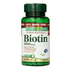 Buy Nature's Bounty Super Potency Biotin 5000 mcg - Nykaa