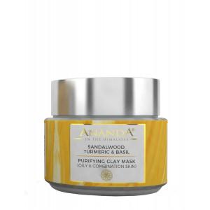 Buy Ananda Purifying Clay Mask- Sandalwood, Turmeric & Basil For Oily And Combination Skin - Nykaa