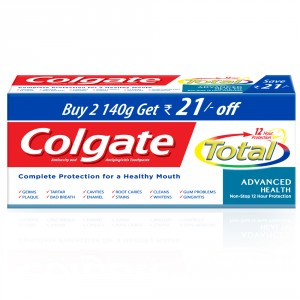 Buy Colgate Total Advanced Health Toothpaste Pack of 2(Save Rs.17) - Nykaa