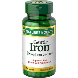 Buy Nature's Bounty Gentle Iron 28mg Iron Glycinate - Nykaa