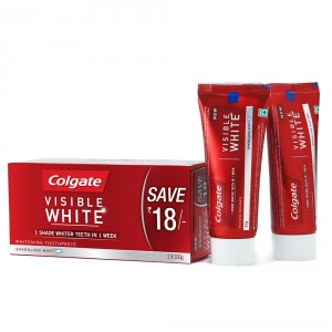Buy Colgate Visible White Toothpaste Pack of 2 (Save Rs. 18/-) - Nykaa