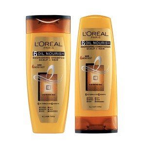 Buy Herbal L'Oreal Paris 6 Oil Nourish Shampoo + L'Oreal Paris 6 Oil Nourish Conditioner - Nykaa