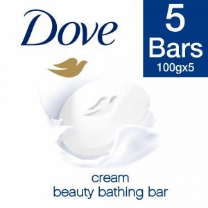Buy Dove Cream Beauty Bathing Soap (Pack Of 5) - Nykaa