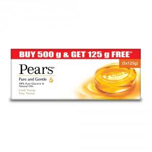 Buy Pears Pure & Gentle Bathing Soap (Pack Of 4) + 1 Pure & Gentle Bathing Soap - 125gm Free - Nykaa