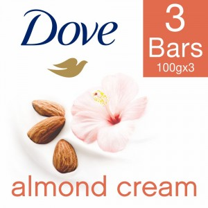Buy Dove Almond Cream Beauty Bathing Bar (Pack Of 3)(Save Rs.10) - Nykaa