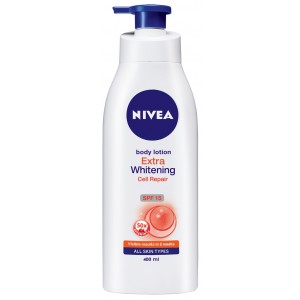 Buy Nivea Body Lotion Extra Whitening Cell Repair & UV Protect Vit C  - Nykaa