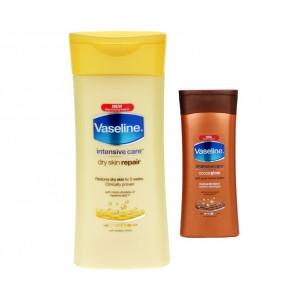 Buy Vaseline Intensive Care Deep Restore - Dry Skin 100ml + Vaseline Cocoa Glow Dry Skin 20ml Free - Nykaa