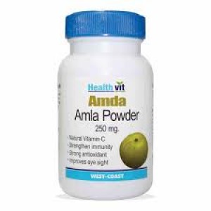 Buy HealthVit Amda Amla Powder 250 mg (60 Caps) - Nykaa