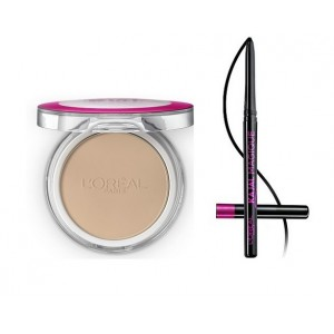 Buy L'Oreal Paris Mat Magique All-In-One Pressed Powder G1 Vanilla Ivory + Kajal Magique - Nykaa